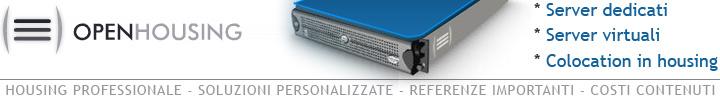 Housing e soluzioni professionali per colocation, server dedicati e server virtuali